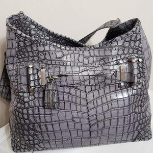 🌸Jessica Simpson Prpl Crocodile Embossed Hobo Bag